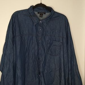 Ashley Stewart denim shirt dress